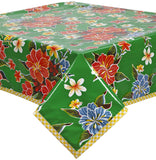 Freckled Sage Oilcloth Tablecloth Green Hawaii