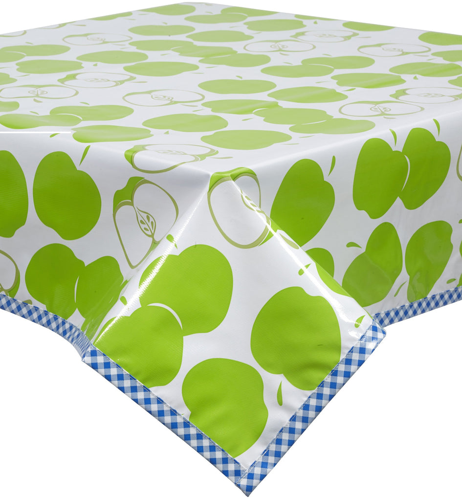 Freckled Sage Oilcloth Tablecloth Mod Apple Green