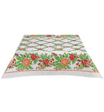 Rose Vine Orange Oilcloth Tablecloth