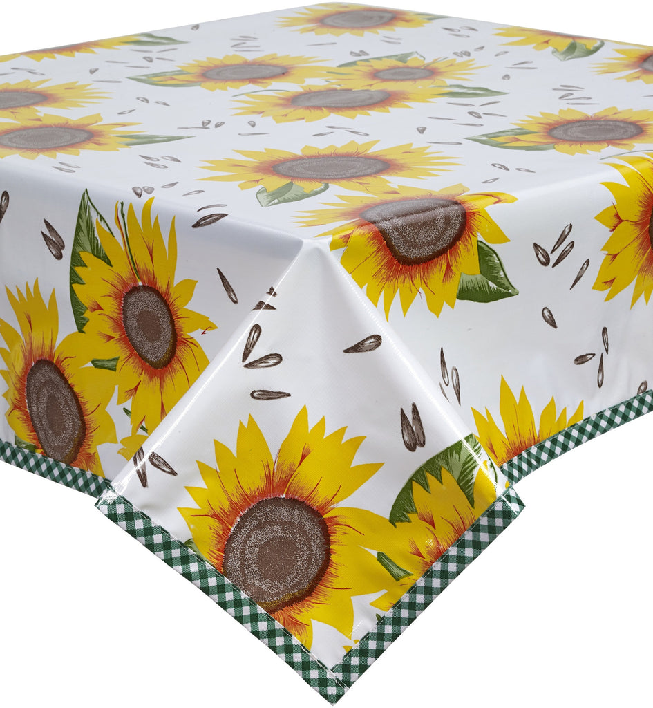 Freckled Sage Oilcloth Tablecloth Sunflower