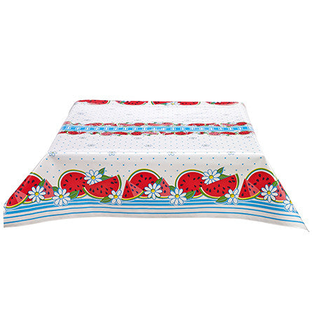 Watermelon Light Blue Oilcloth Tablecloth