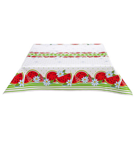 Watermelon Lime Oilcloth Tablecloth