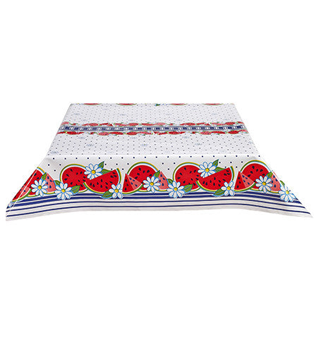 Watermelon Navy Oilcloth Tablecloth