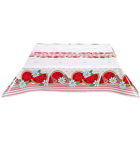 Watermelon Pink Oilcloth Tablecloth