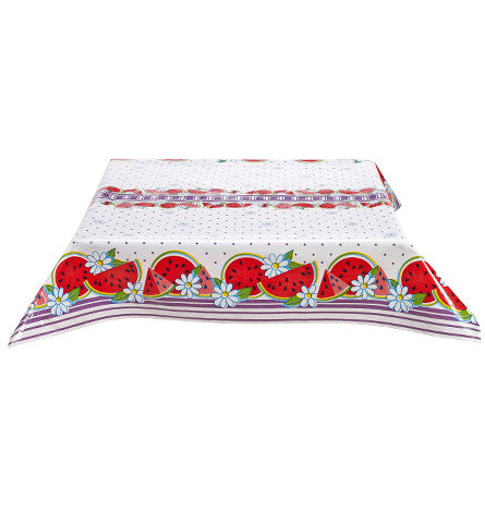 Watermelon Purple Oilcloth Tablecloth