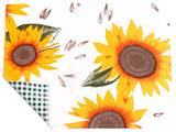 Freckled Sage Oilcloth Placemat Sunflower