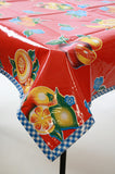 Tropical Fruit oilcloth tablecloth