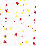 Yellow and Red Stars Oilcloth Tablecloth