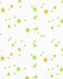 Orange and Lime Stars Oilcloth Tablecloth