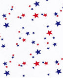 Red White and Blue Stars Oilcloth Tablecloth