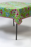 Strawberry Green Oilcloth Tablecloth