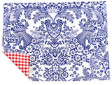 Freckled Sage Oilcloth Placemats Blue Toile