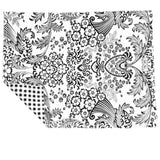 Freckled Sage Placemats Black Toile