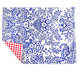 Freckled Sage Oilcloth Placemats Toile Blue