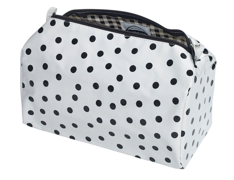 Freckled Sage Oilcloth Travel Bag Dot Black
