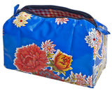 Freckled Sage Oilcloth Travel Bag Mum Blue