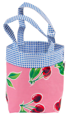 Freckled Sage Oilcloth Chickee Bag Cherry Pink