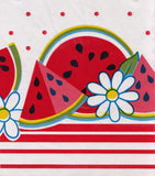 Watermelon Red Oilcloth Tablecloth