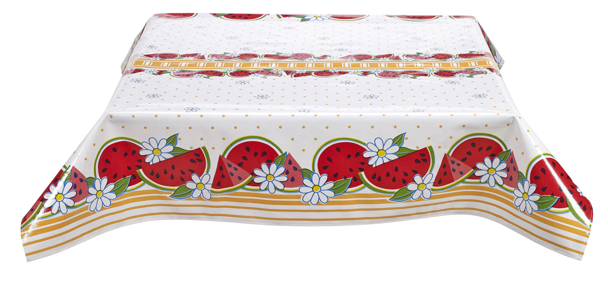 Freckled Sage Oilcloth Tablecloth Watermelon Yellow