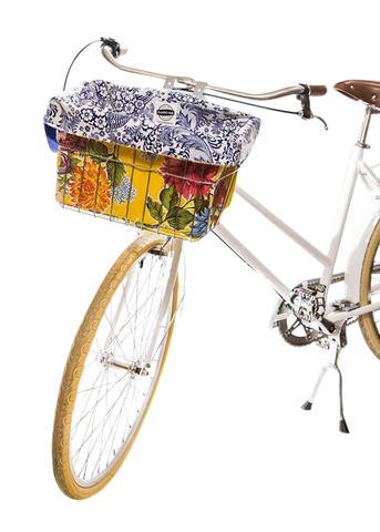 Freckled Sage Oilcloth Bike Bag Mum Yellow