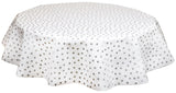 Freckled Sage Round tablecloth Silver Dots