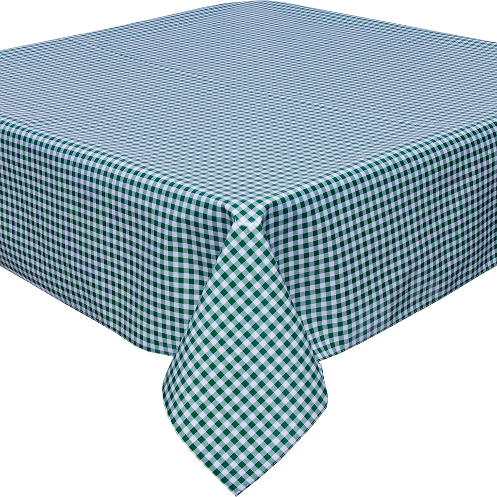 freckled sage gingham green tablecloth