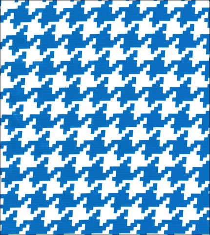 FreckledSage.com Blue Houndstooth Swatch