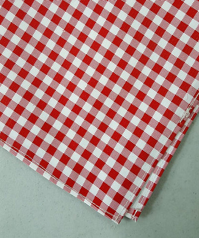 Freckled Sage Oilcloth Red Gingham Tablecloth
