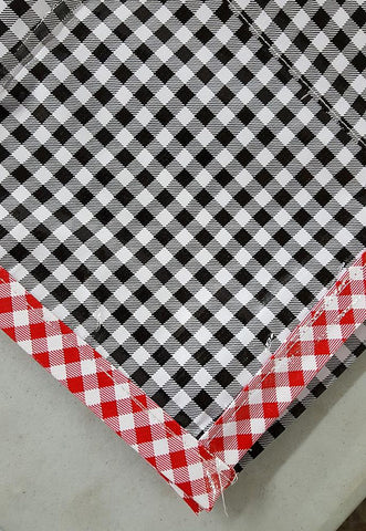 Freckled Sage Oilcloth Tablecloth Black Gingham
