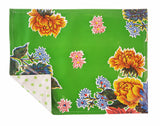 Freckled Sage Oilcloth Placemats Mum Green