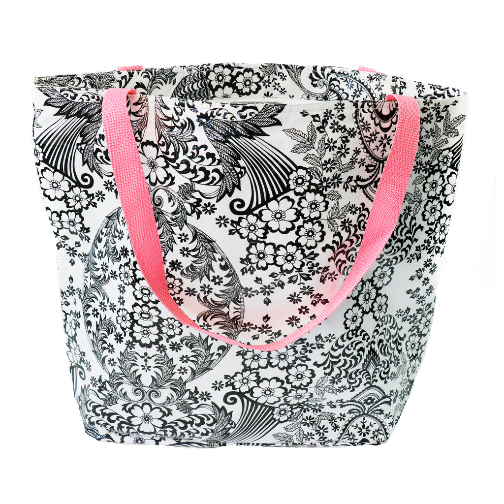 Freckled Sage Oilcloth Thermal Tote Toile Black