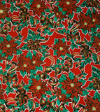 Freckled Sage Oilcloth Christmas Holly Red swatch