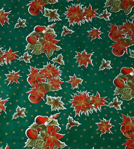Freckled Sage Oilcloth Christmas Stars Green