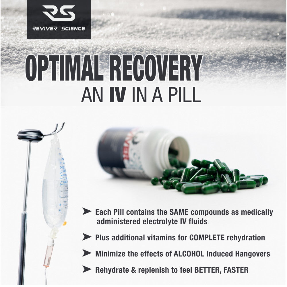 Reviver Science Electrolyte Capsules are an IV in a pill form.
