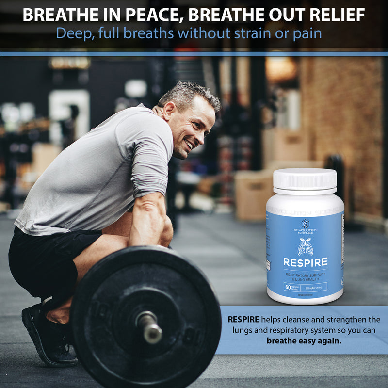 Respire - Respiratory Support & Lung Health Supplement - 60 Capsules
