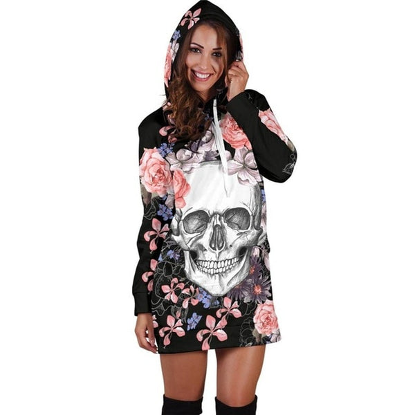 Alisister Plus Size Skull Hoodies Dress – Dunkz Boutique