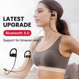 Waterproof 5.0 Bluetooth earphone Noise Cancelling HiFi Stereo