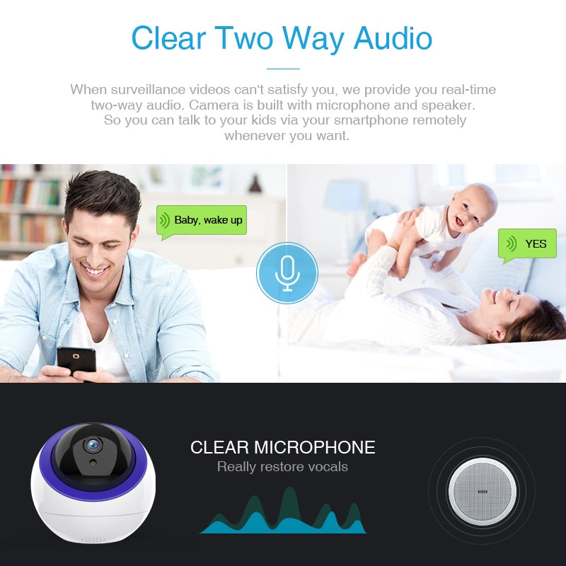Surveillance Home Camera Intelligent Auto Tracking Cloud IP Camera With Net Port