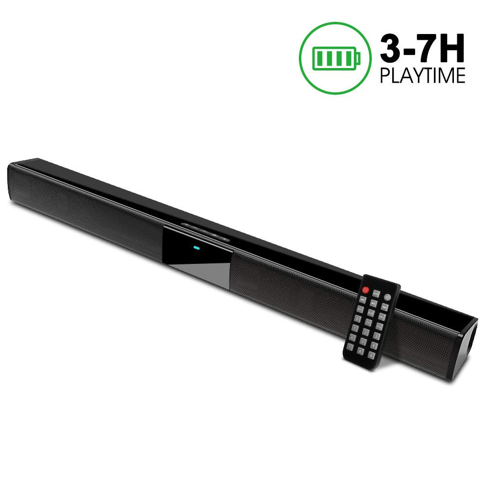 Soundbar Speaker for TV 2.0 Channel  22-Inch with Batteries