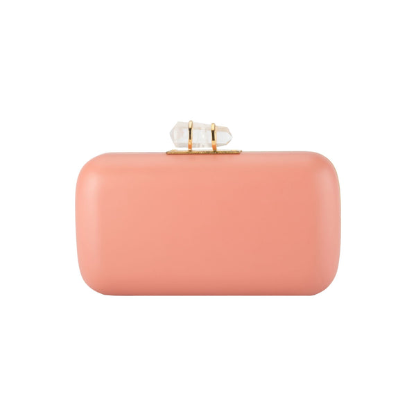 Gold & Peach Hand-Carved Pastel Clutch