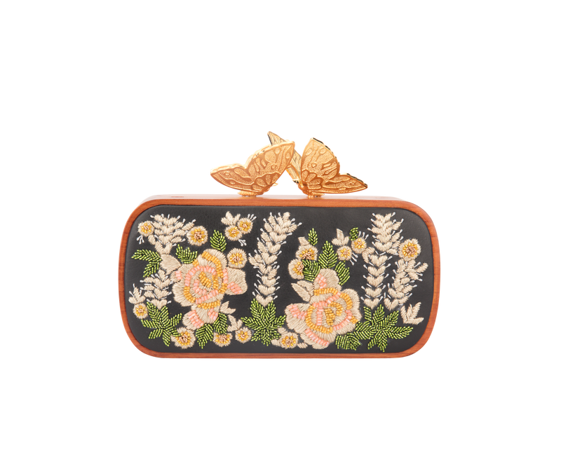 Lost In The Woods Floral Evening Clutch