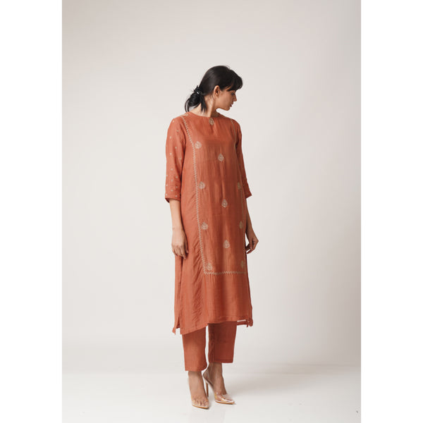 Copper Aayat Kurta-Pant Set