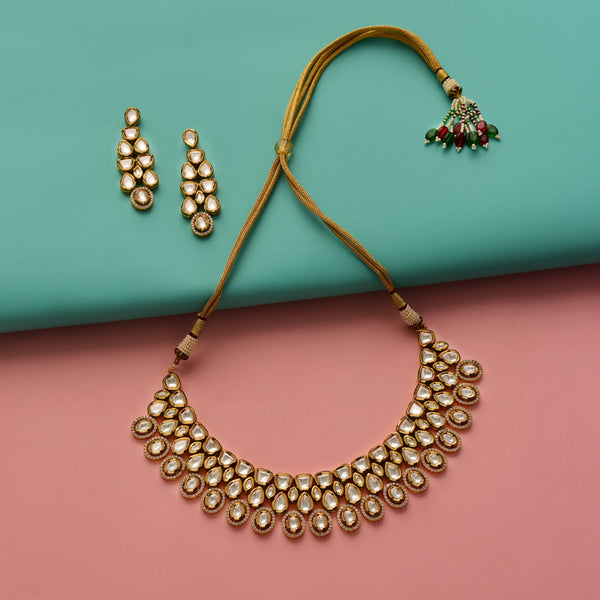 Timeless Gold Kundan Necklace Set