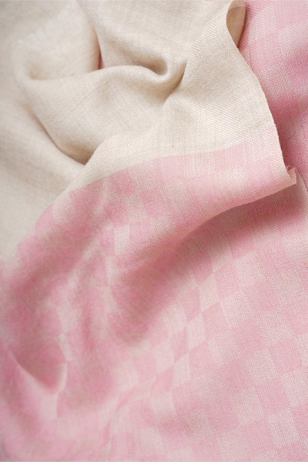 Baby Pink Cashmere Fine Wool Stole