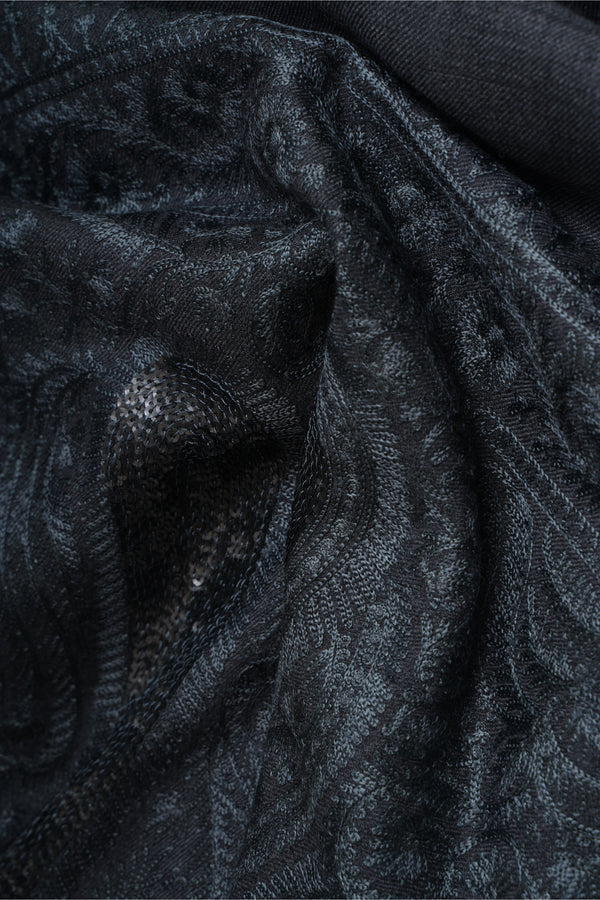 Black & Grey Cashmere Stole