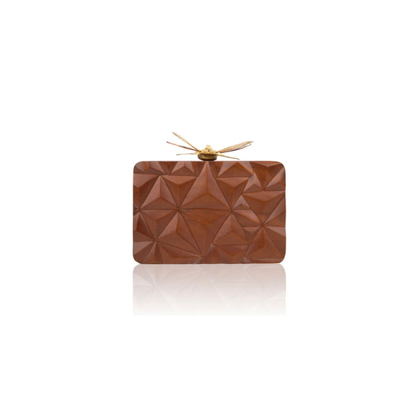Exotic Mahogany Triangle Dragonfly Clutch