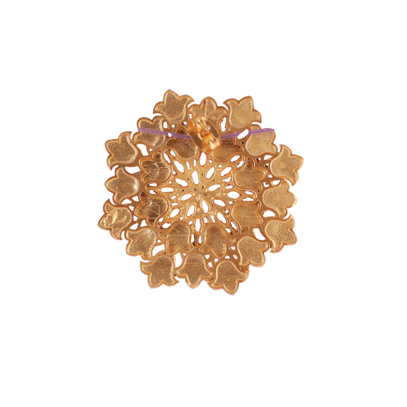Floral Burst Stud Earrings