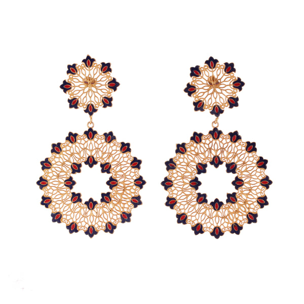 Floral Drama Statement Earrings
