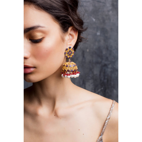 Back To Roots Floral Jhumkis