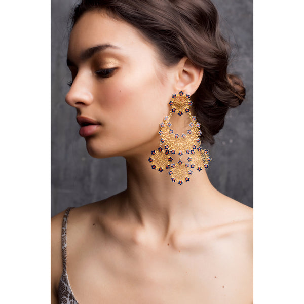 Floral Flare Statement Earrings